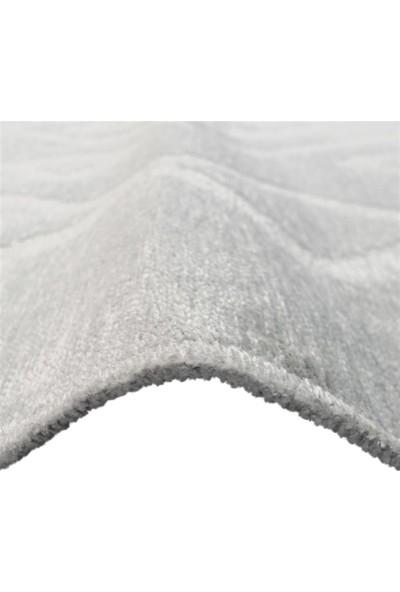 Metraj Halı Çam Halı Leo LE1702 Gümüş Metraj Çift Taraflı Modern Kilim