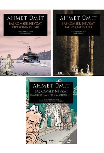 Başkomser Nevzat Çizgi Roman Serisi 3 Kitap Set Ahmet Ümit - Çiçekçi'nin Ölümü - Tapınak Fahişeleri - Davulcu Davut'u Kim Öldürdü
