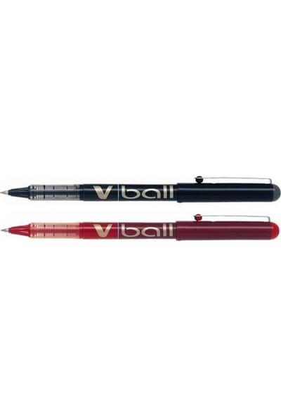 Pilot V-Ball 1.0 mm Iğne Uçlu 2'li Roller Kalem Seti Siyah - Kırmızı