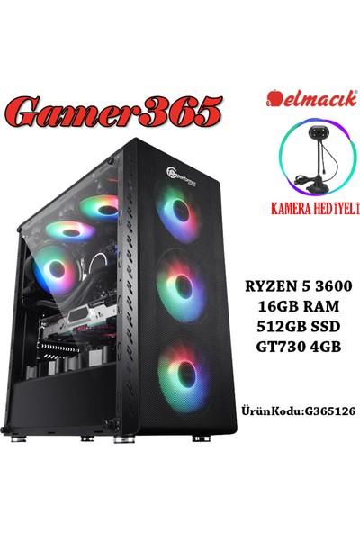 Gamer365 AMD Ryzen 5 3600 16GB 512GB SSD GT730 Freedos Masaüstü Bilgisayar G365126