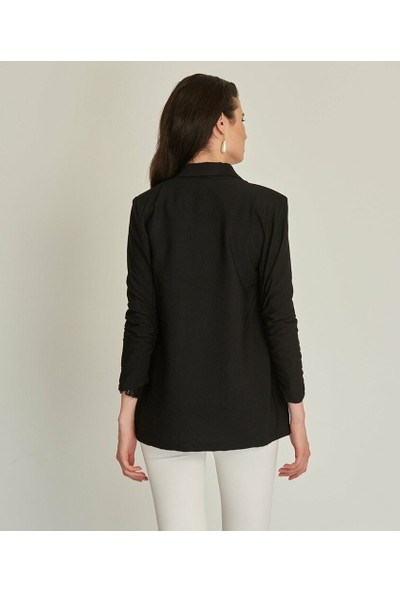 Sateen Siyah Ceket