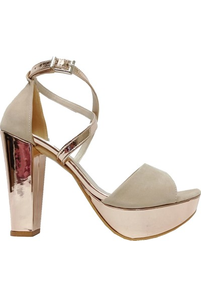 Serhat 8011 Süet 30MM Platform Topuklu Kadın Ayakkabı