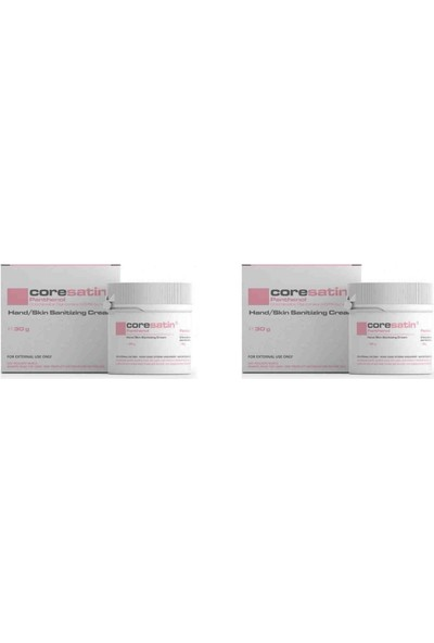 Coresatin Fungicidal Barrier Cream Panthenol Pembe Kavanoz Cilt Bakım Kremi 2 Adet