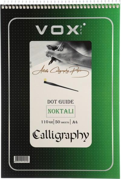Calligraphy Defteri Noktalı A4 50 Yaprak 110 gr