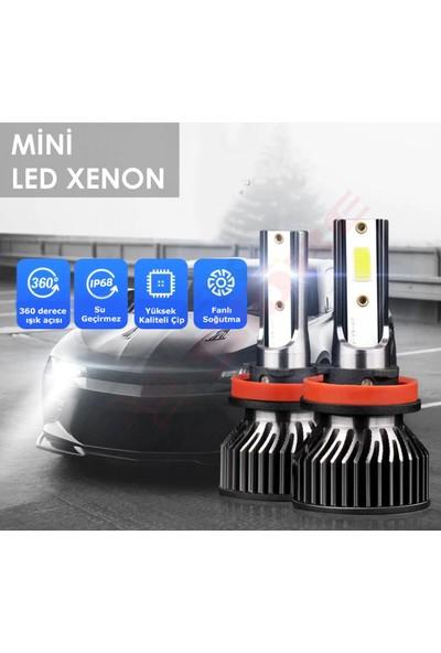Tekstore Yeni Seri Mini LED Xenon Far, Şimşek Etkili H4 Kısa-Uzun Far 12.000LM 6000K