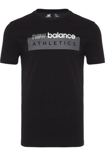 New Balance Erkek Siyah T-Shirt MTT919-BK