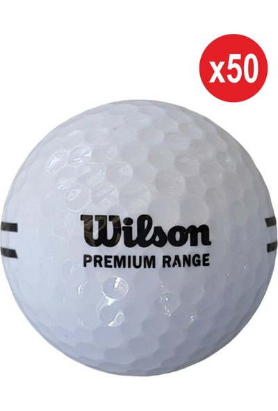 Wilson 50 Adet WS115 Premium Range Golf Topu Beyaz