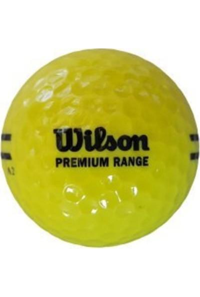 Wilson 1 Adet WS115 Premium Range Golf Topu Sarı