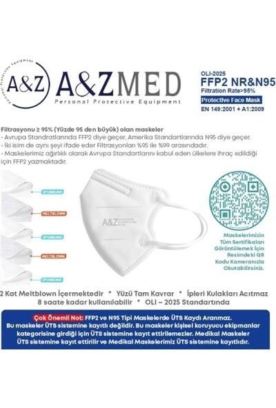 A&z Med Ffp2 N95 Çocuk Maskesi Telli ve Tek Tek Paketli 20 Adetlik 1 Kutu - Beyaz