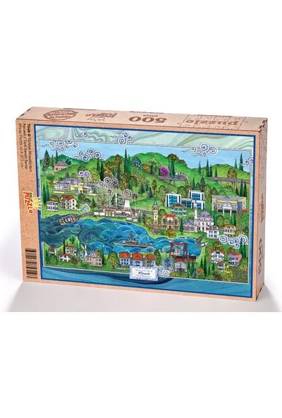 King Of Puzzle Türkiye Minyatürleri - Kocaeli - Nasuhi Hasan Çolpan Ahşap Puzzle 500 Parça