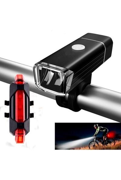 Mofy's Bisiklet Scooter Işığı Ön Far LED Işık Arka Stop Lambası 2\'li Set