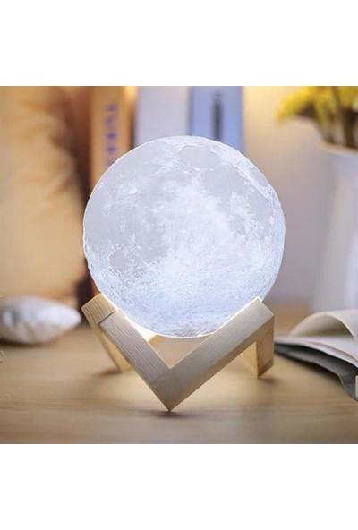 Durbuldum 3D Ay Şeklinde Gece Lambası