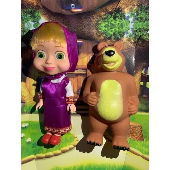 Kardelen Masha ve Koca Ayı Oyuncak Figür Set - Maşa ile Koca Ayı Oyuncak
