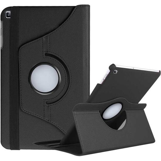 Canpay Samsung Galaxy T510 Kılıf (Tab A 10.1 (2019) Standlı Pu-Leather Desing Tablet Kılıfı Siyah