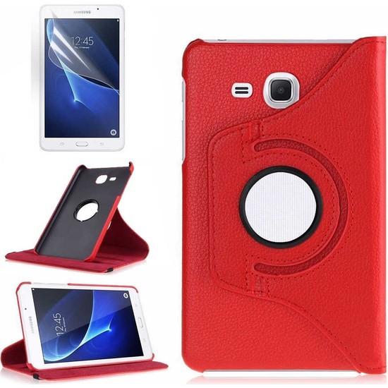 Canpay Samsung Galaxy T830 Kılıf (Tab S4) Standlı Pu-Leather Desing Tablet Kılıfı Kırmızı