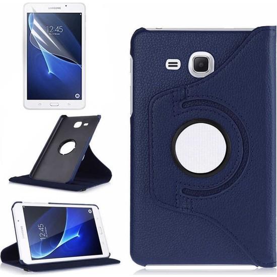 Canpay Samsung Galaxy T830 Kılıf (Tab S4) Standlı Pu-Leather Desing Tablet Kılıfı Lacivert