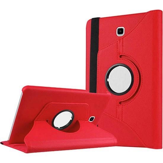 """Canpay Samsung Galaxy T715 Kılıf (Tab S2 8"""") Standlı Pu-Leather Desing Tablet Kılıfı Kırmızı"""