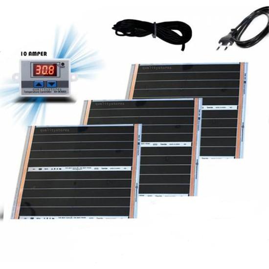 Multiteknik Dijital Termostatlı Kablolu Demonte Set Karbon Isıtıcı - 3 Adet 50X60