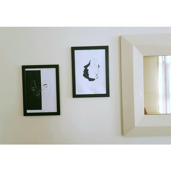 İntegral Sanat Siyah Beyaz Suratlar
