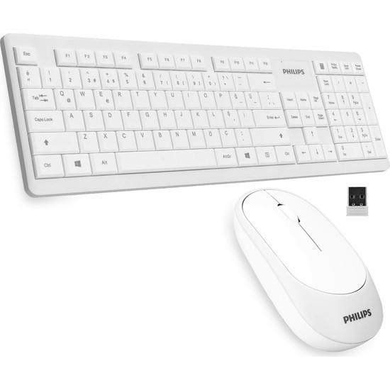 Philips SPT6314 Türkçe Q Kablosuz Klavye Mouse Seti
