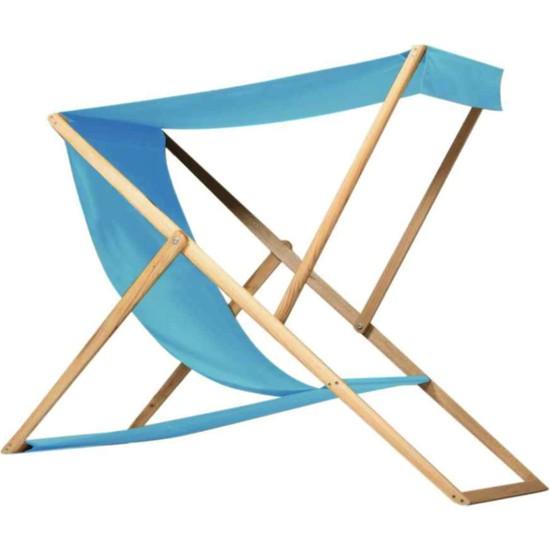 Weblonya Katlanır Bahçe Şezlong Koltuk Şemsiyeli Sandalye 2129
