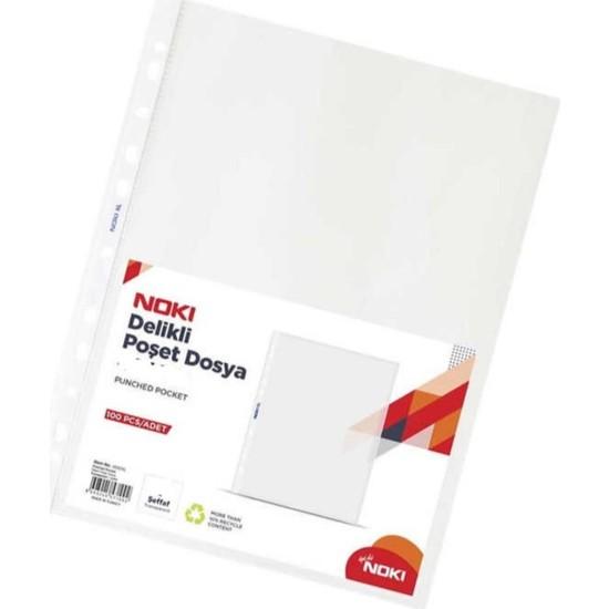 Noki A5 Poşet Dosya Şeffaf Buzlu 100'LÜ Föy A-5 1 Paket