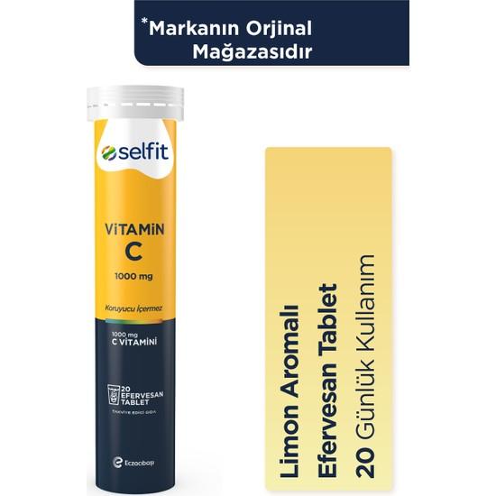 Eczacıbaşı Selfit Vitamin C 1000 mg 20 Efervesan Tablet - Son Kullanma Tarihi: 01.2023