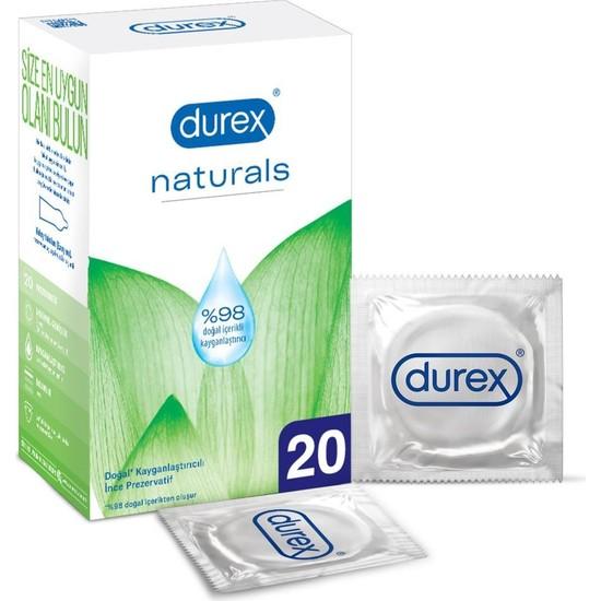 Durex Naturals 20'li Doğal Kayganlaştırıcılı İnce Prezervatif