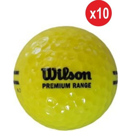 Wilson 10 Adet WS115 Premium Range Golf Topu Sarı