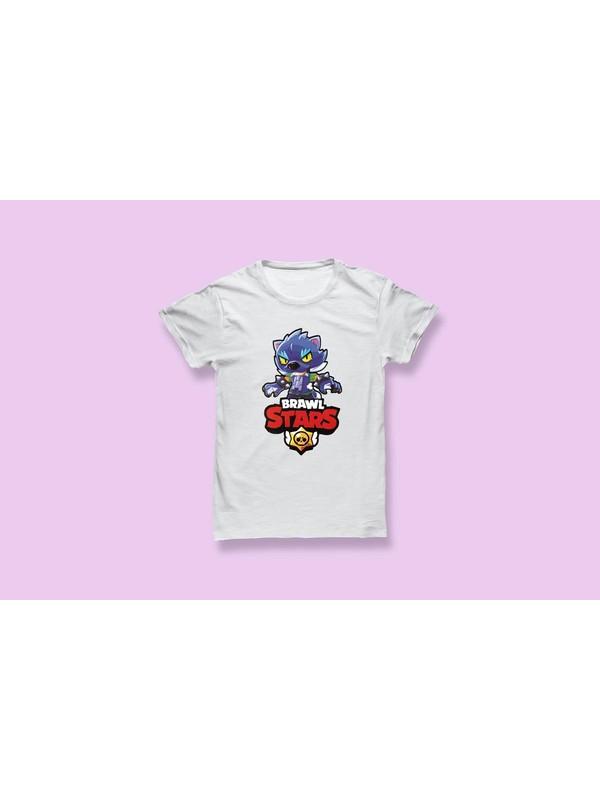 Brawl Stars Kurtadam Leon Baskılı Çocuk T-Shirt