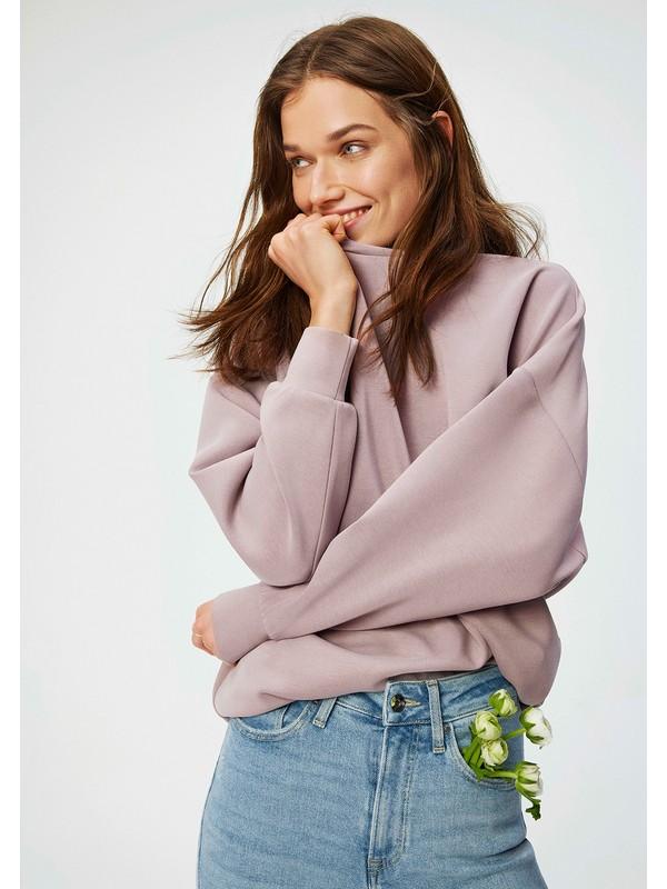 Mavi Kadın Lux Touch Mor Modal Sweatshirt 168837-33493