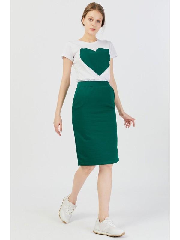 Koza Kalp Baskılı Etek-T-Shirt 8705