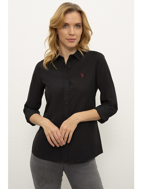 U.S. Polo Assn. Siyah Gömlek Uzunkol Basic 50238155-VR046