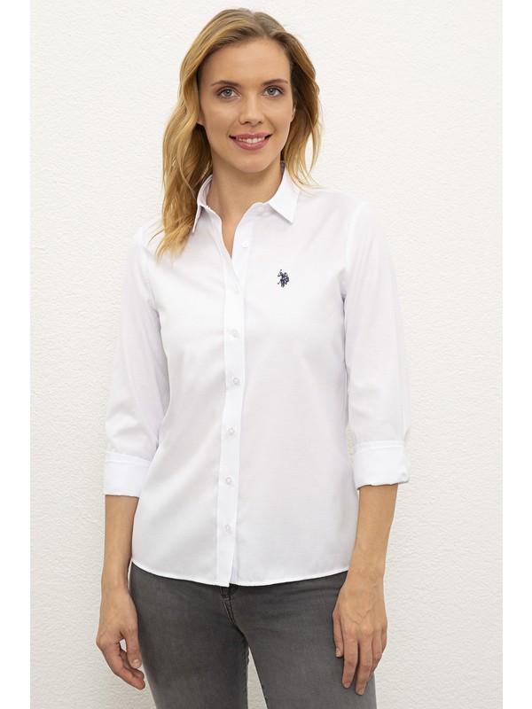 U.S. Polo Assn. Beyaz Gömlek Uzunkol Basic 50238155-VR013