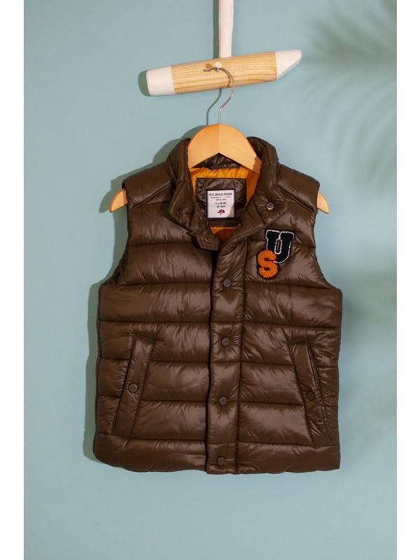 U.S. Polo Assn. Erkek Çocuk Yeşil Dokuma Yelek 50207021-VR111