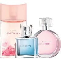 Avon Soft Musk Wish Of Love Perceive Üçlü Kadın Parfüm Set