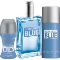 Avon İndividual Blue Edt 100 Ml Erkek Parfüm 3'Lü Set