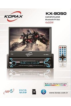 Korax KX-9050 Oto Teyp 7 Inçh Indash USB Bluetooth Play Oto Teyp