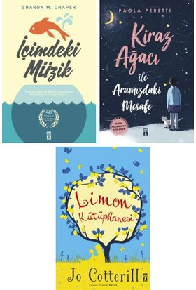 Genç Timaş 3 Kitap Set 5. 6. 7. 8. Sınıflar Ortaokul Okuma Kitapları / Içimdeki Müzik - Kiraz Ağacı ile Aramızdaki Mesafe - Limon Kütüphanesi