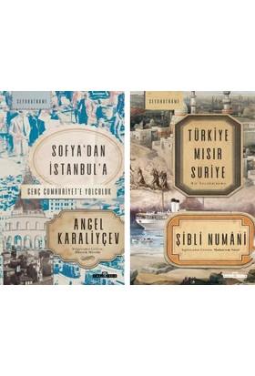 Timaş Seyahatname Serisi 2 Kitap Set / Sofya'dan Istanbul'a Genç Cumhuriyete Yolculuk - Türkiye Mısır Suriye