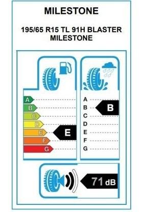 Milestone 195/65 R15 91H Blaster Oto Yaz Lastiği (Üretim Yılı: 2021)