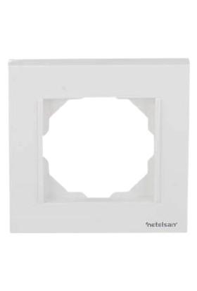 Netelsan Byobu Tekli Çerçeve Beyaz M.U.CRV.10000