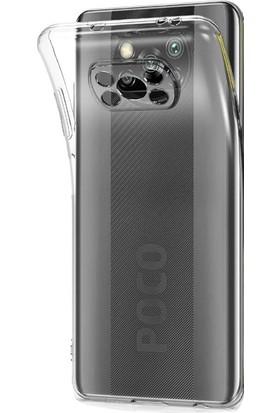 Nihcase Xiaomi Poco X3 Pro Kılıf Kamera Korumalı Silikon Şeffaf