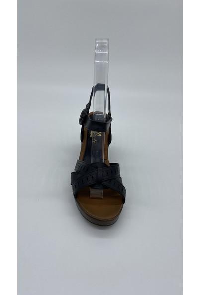 Cudo 006 Siyah Cılt Sandalet