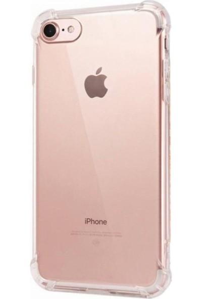 Merwish Case Apple iPhone Se 2020 Kenar ve Darbe Korumalı Şeffaf Antishock Kılıf