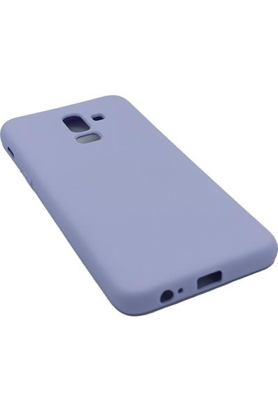 Merwish Case Samsung A6 Plus Içi Kadife Soft Lansman Silikon Kılıf Lila