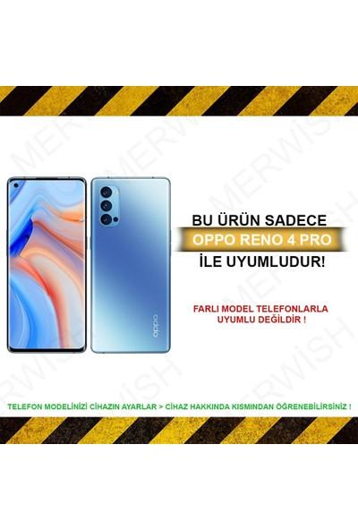 Merwish Case Oppo Reno 4 Pro Içi Kadife Soft Lansman Silikon Kılıf Mor
