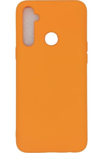 Merwish Case Oppo Realme 6i Içi Kadife Soft Lansman Silikon Kılıf Turuncu