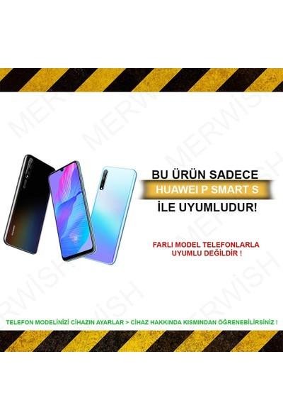 Merwish Case Huawei P Smart S Içi Kadife Soft Lansman Silikon Kılıf Kırmızı