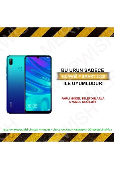 Merwish Case Huawei P Smart 2020 Içi Kadife Soft Lansman Silikon Kılıf Siyah